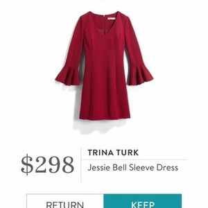 Trina Turk Jessie Bell Sleeved Dress size 12 new
